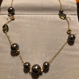 Long black pearl fashion necklace from JCrew.